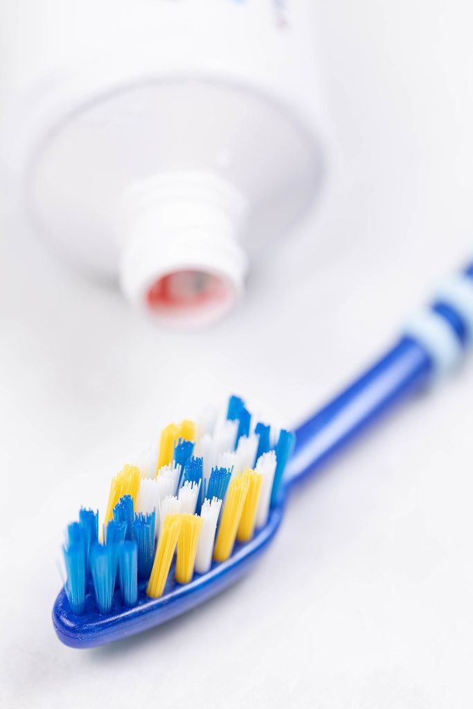 Brand new Toothbrush with Toothpaste