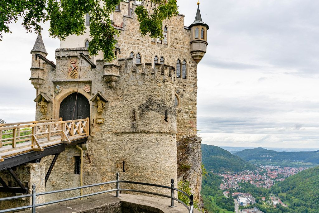 Bridge leading to the main tower of Lichtenstein Castle