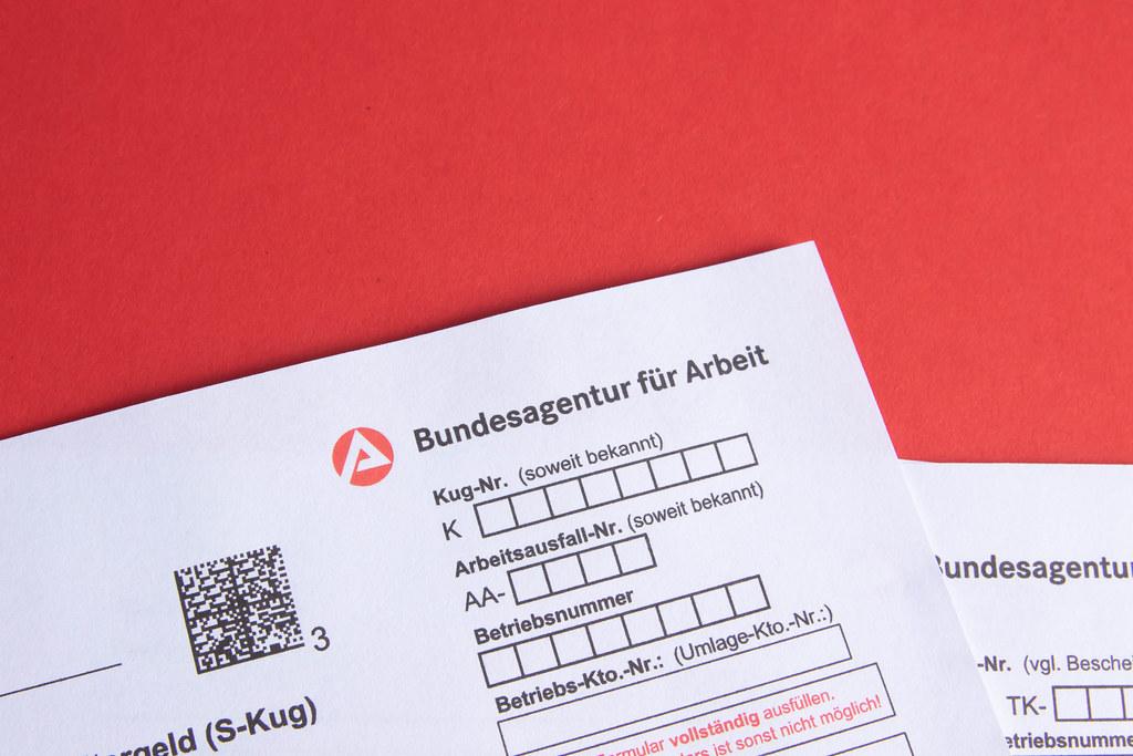 Bundesagentur für Arbeit logo on a document