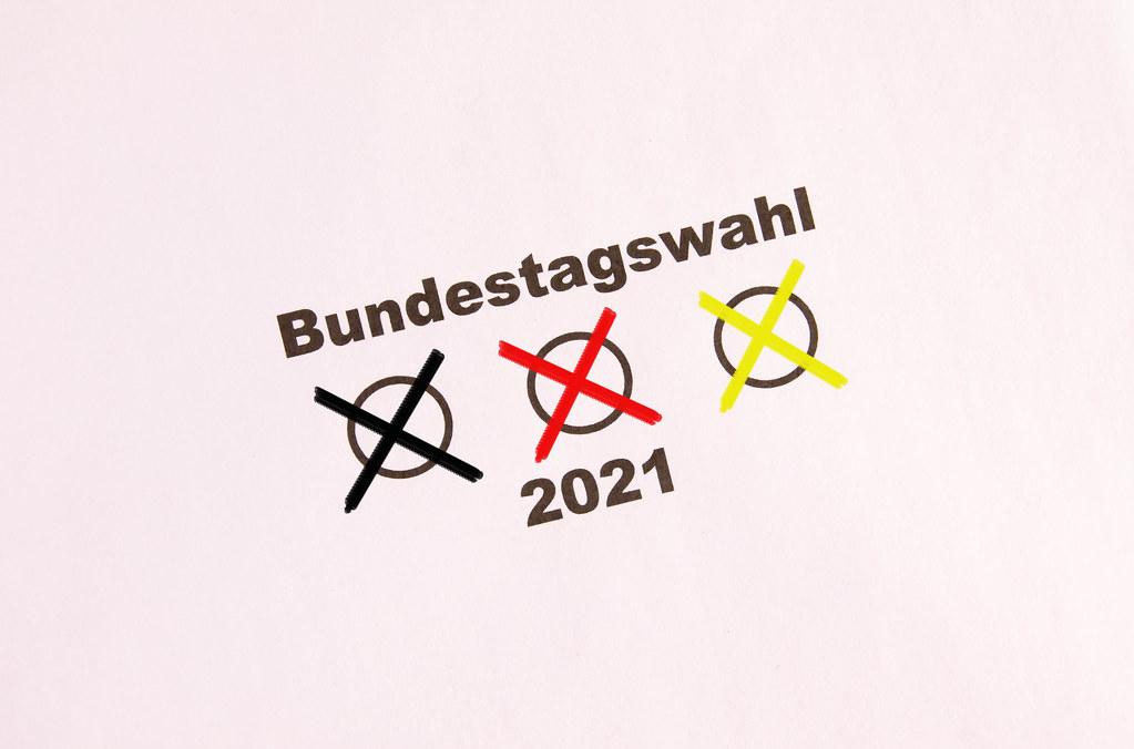 Bundestagswahl 2021 concept