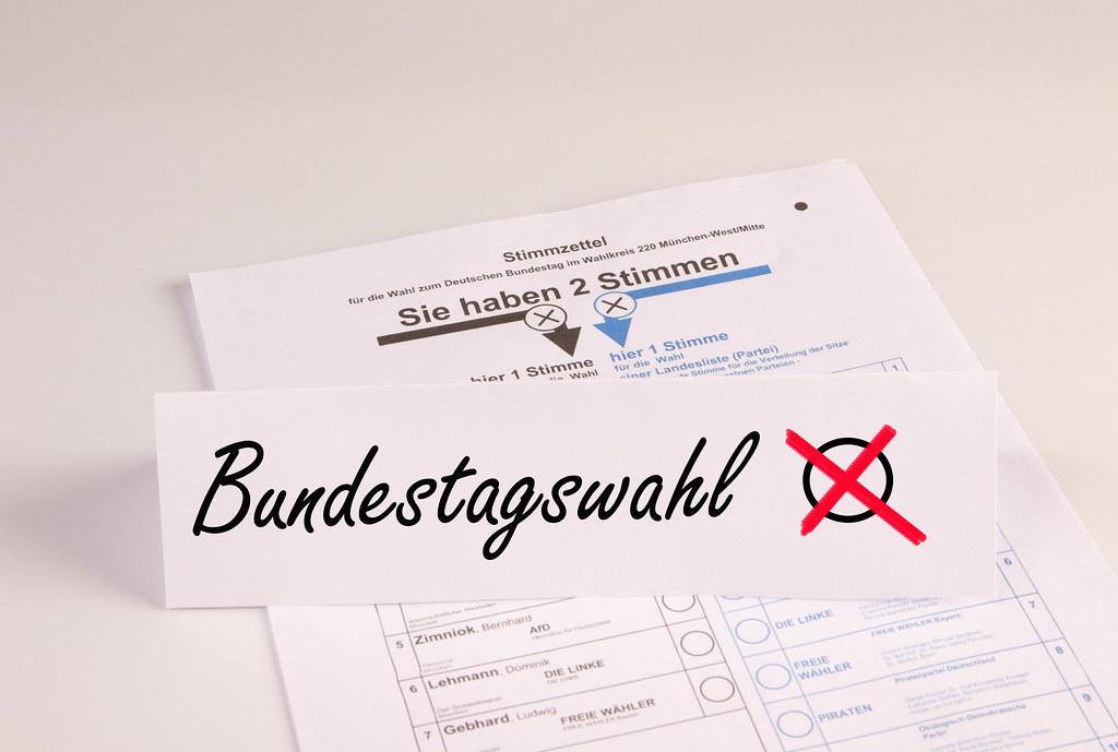 Bundestagswahl concept
