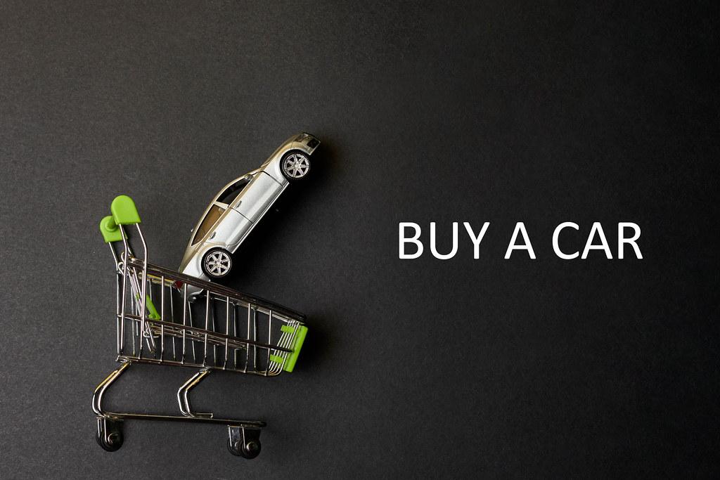 Buy a car concept