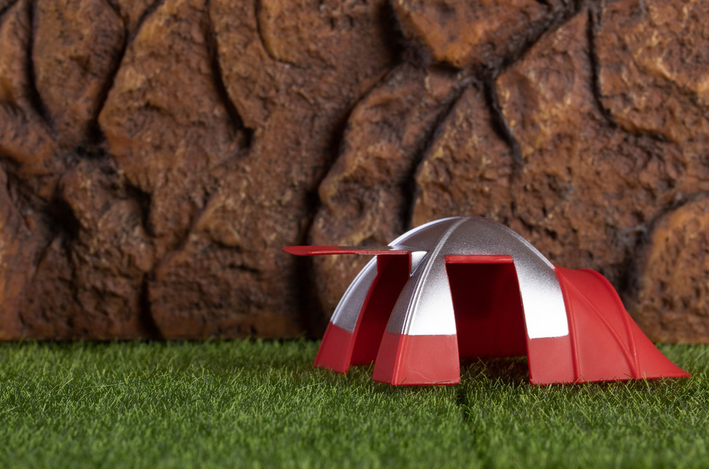 Camping tent on a grass