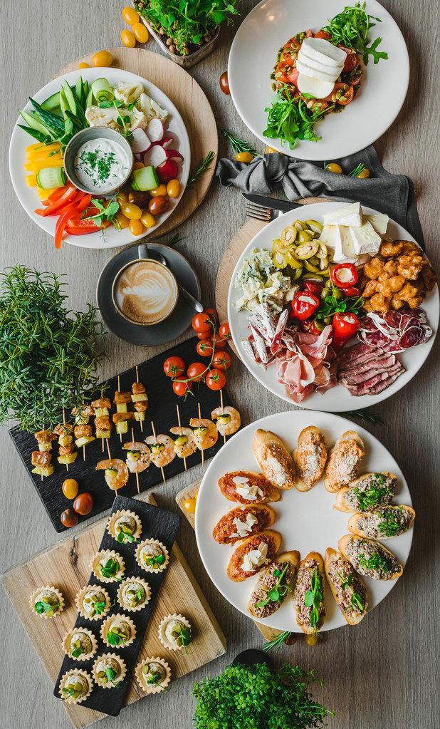 Canape Asorti Table With Coffee