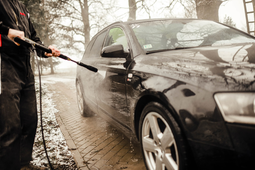 Car Cleaning Karcher High Pressure Outdoors Winter