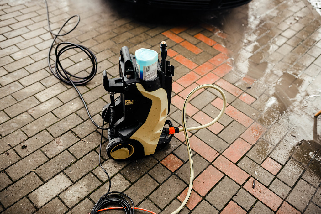 Car Cleaning Karcher Kit On The Ground