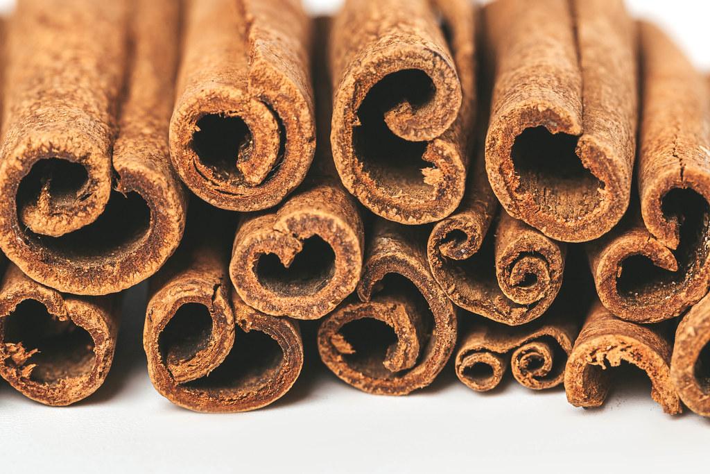 Cinnamon stick spice, close up