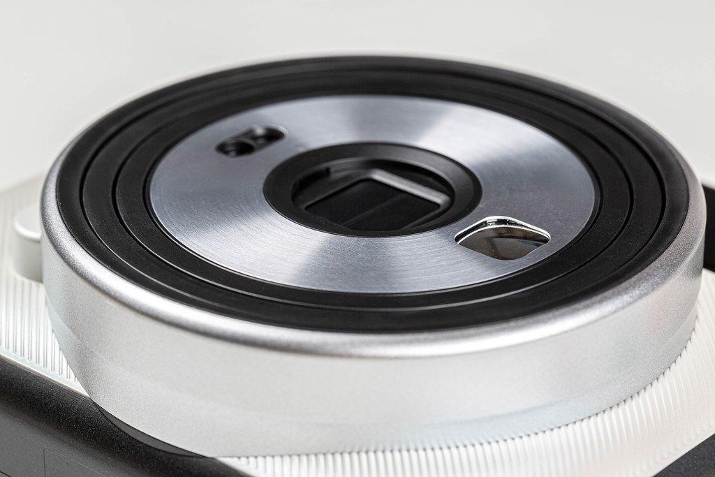 Close-up, lens silver Polaroid