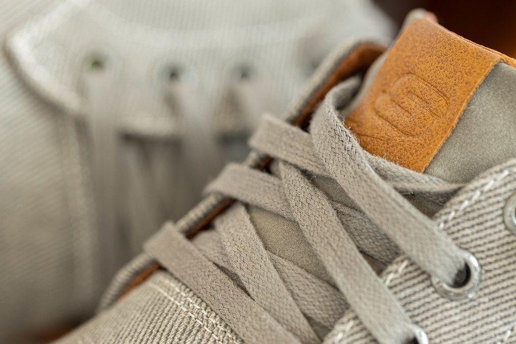 Closeup macro of Mens Shoes Skechers