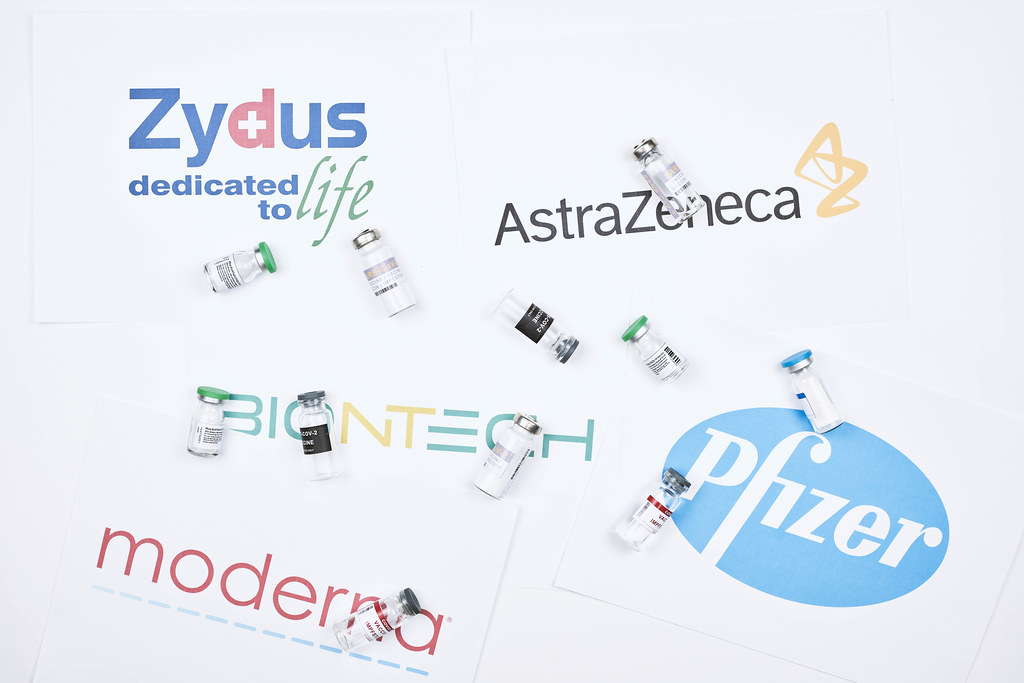 Competition in vaccine development between Pfizer, BioNTech, Moderna, AstraZeneca and Zydus Cadila companies