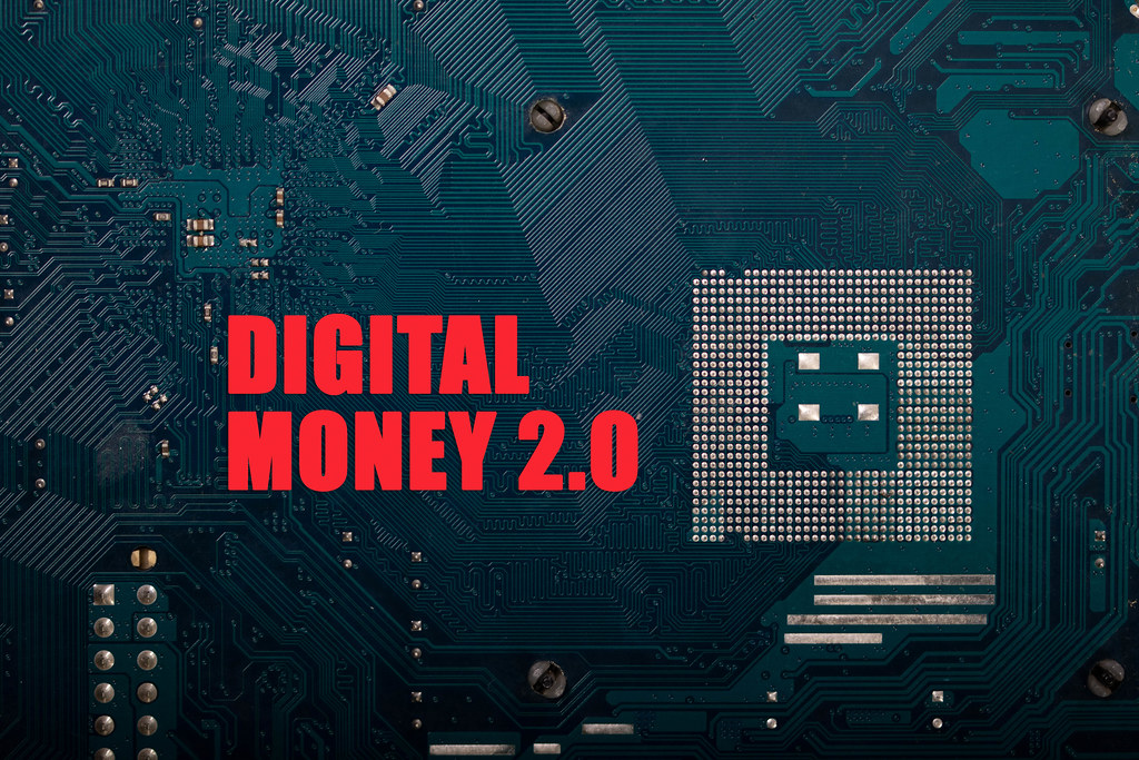 Computer chips with Digital Money 2.0 text
