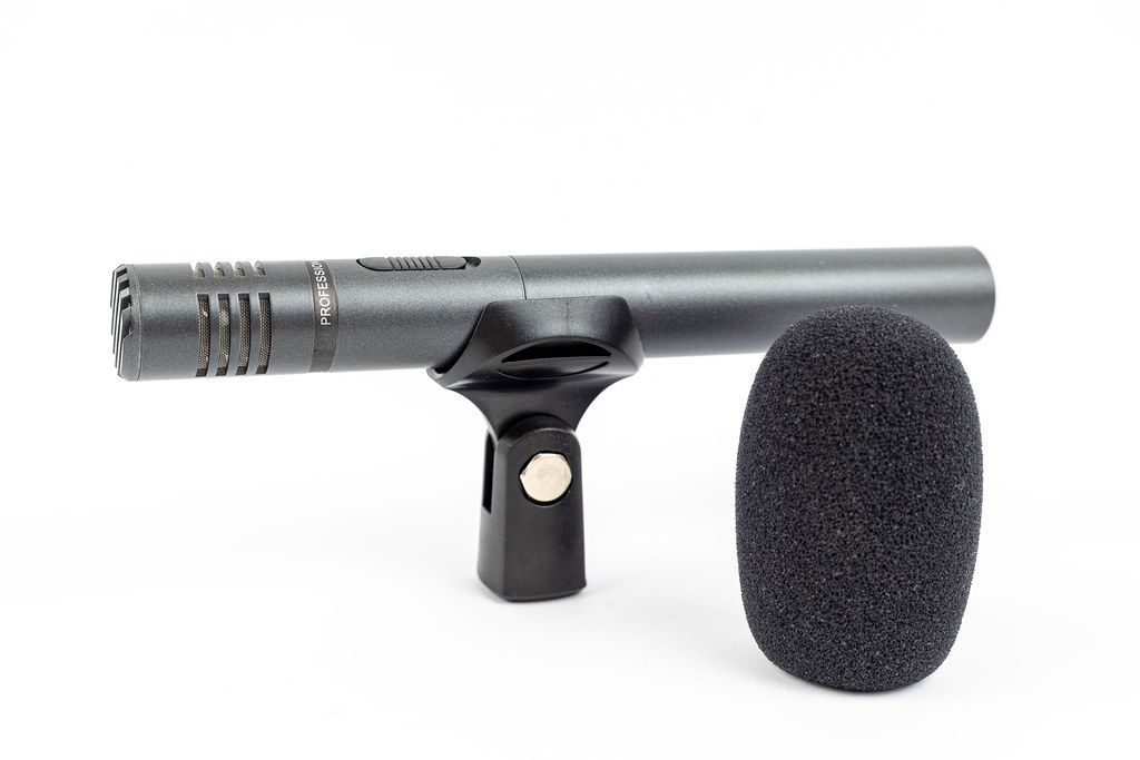 Condenser Studio Directional Microphone with sponge wind shield