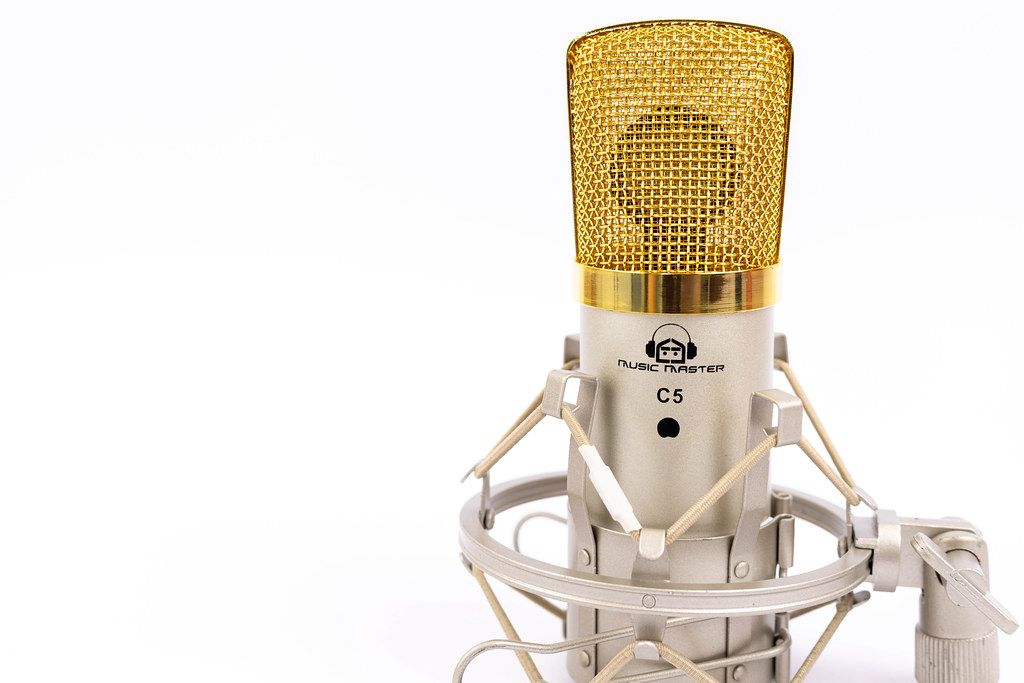 Condenser Studio Microphone with golden cap