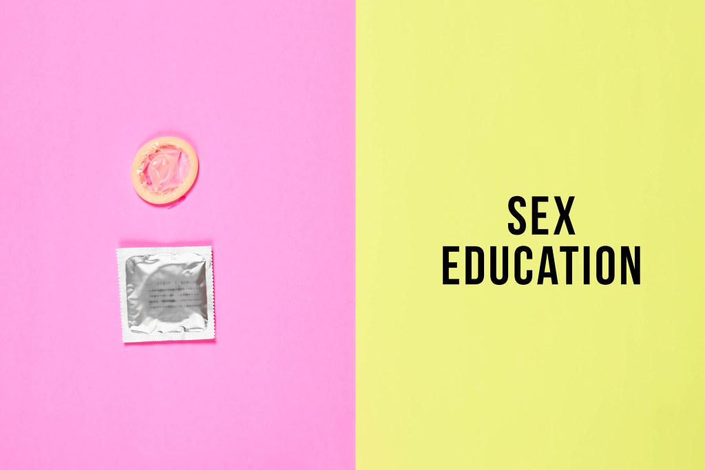 Condoms. Sex education concept
