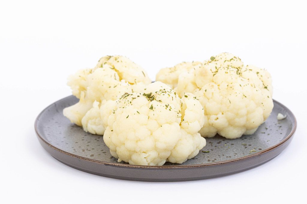 Cooked Cauliflower served on the plate