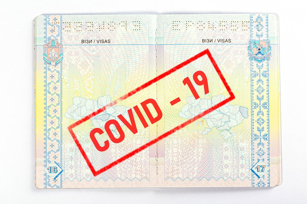 Coronavirus disease outbreak. Travelling in epidemic period. Passport border control and quarantine of infected tourists