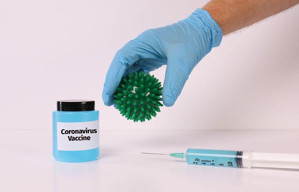 Coronavirus Vaccine concept