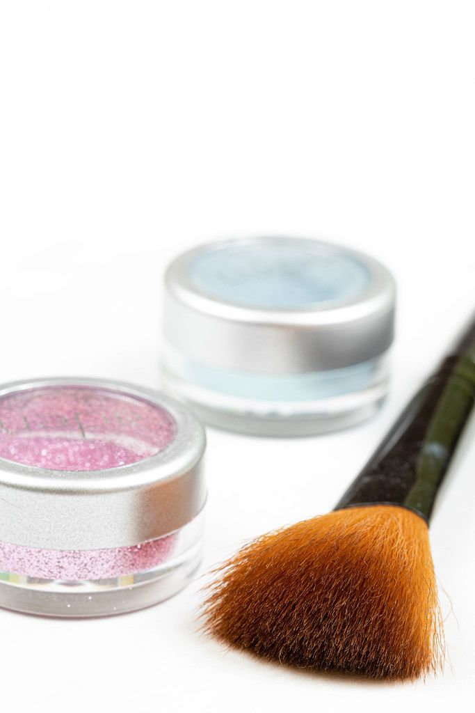 Cosmetics Brush with Glitters in the box