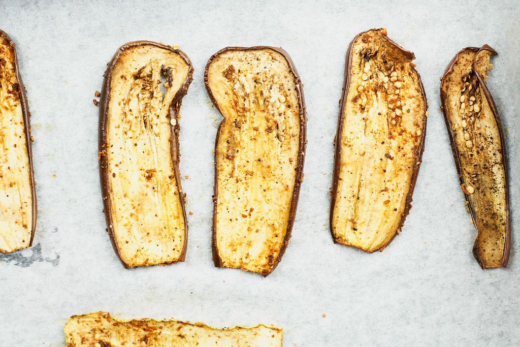 Crispy and super delicious roasted eggplant