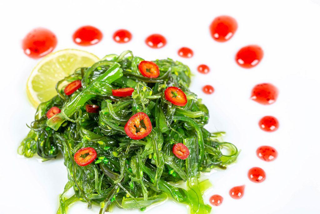 Delicious dietary seaweed salad - chuka