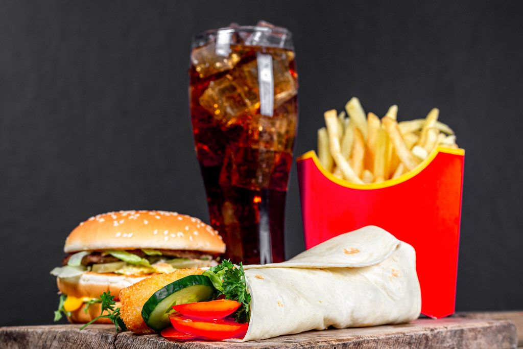 Delicious fast food background