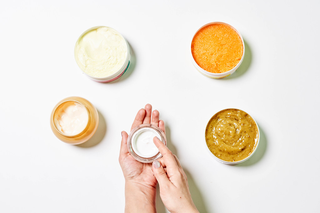 Dermatologist testing organic herbs based cosmetic product in the laboratory