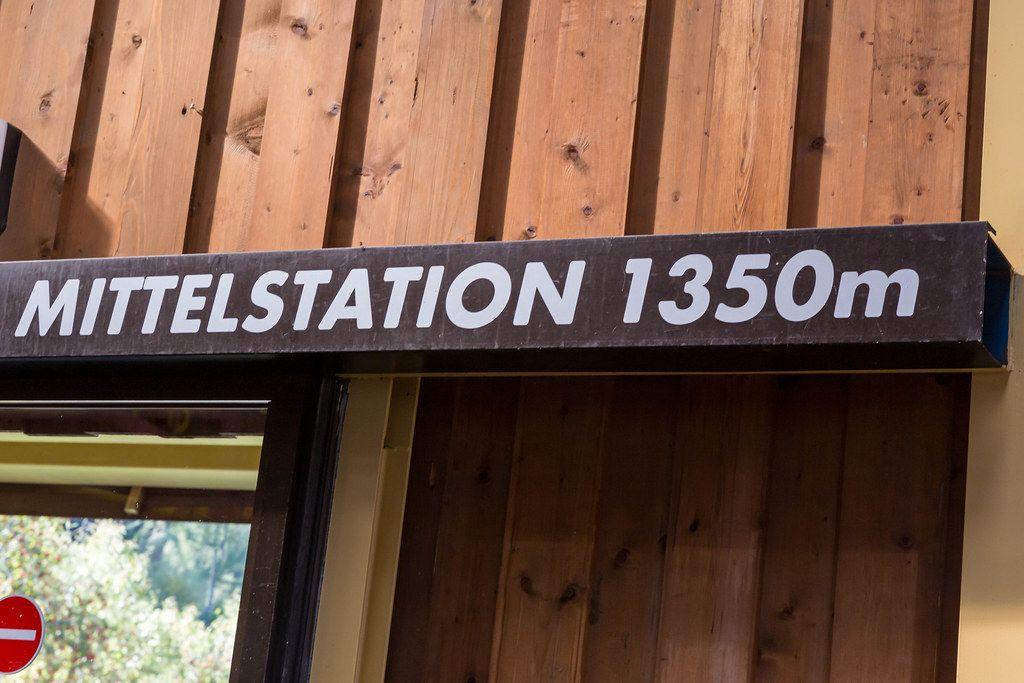 Die Mittelstation der Wiedersbergerhornbahn (1350m), die von Alpbach in die Bergen führt