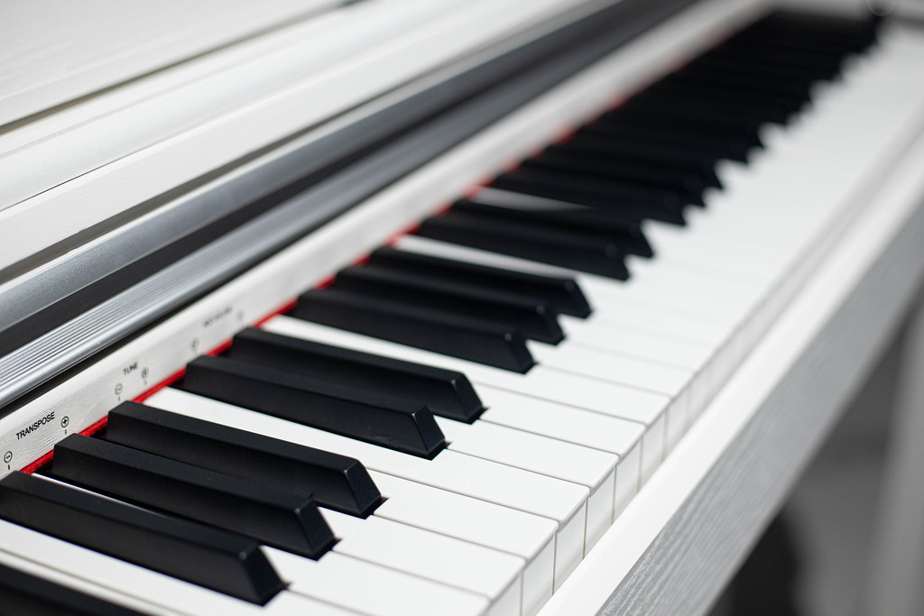 Digital Piano Keyboard background music concept