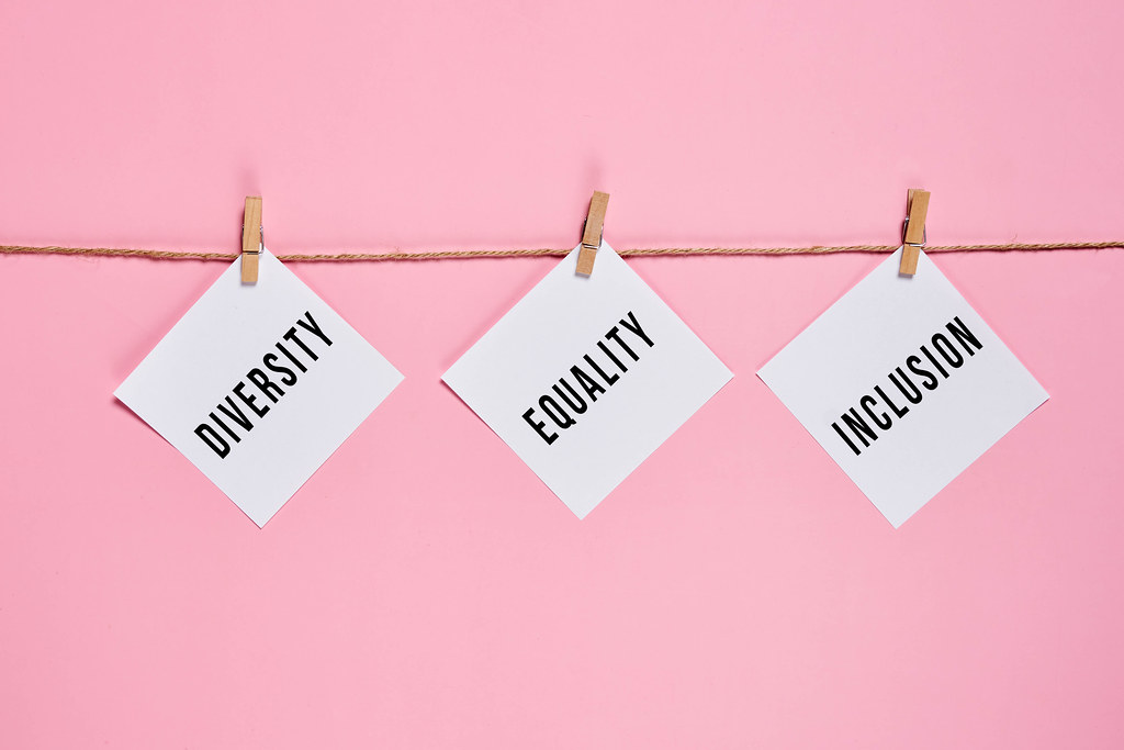 Diversity, Equality and Inclusion words on hanging on the rope papers