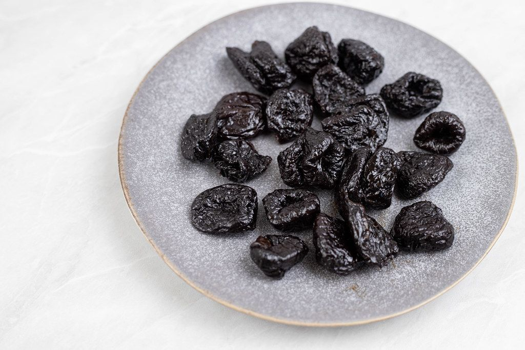 Dried Plums served on the plate