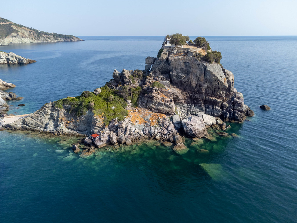 Drone image of Mamma Mia! movie filming location: Sophie