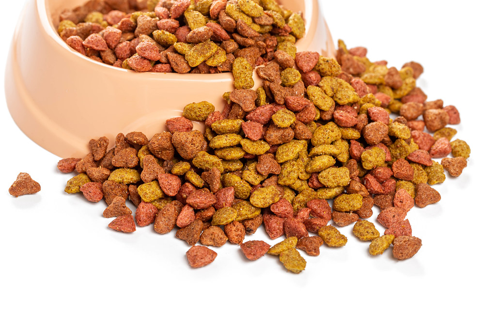 Dry food for domestic cats, balanced nutrition