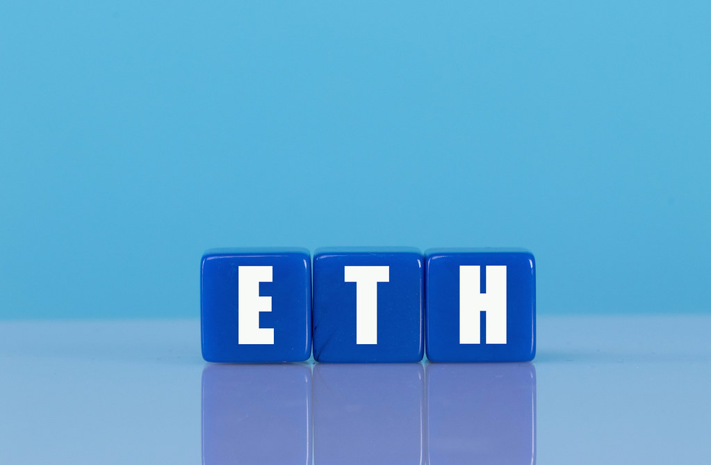 ETH text on blue cubes