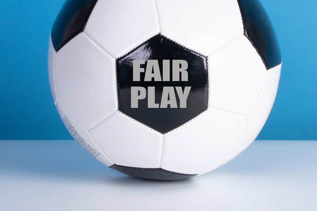 Fair Play text on a soccer ball