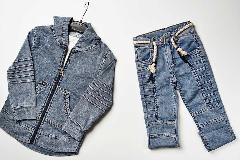 Fashionable kid's jeans outfit