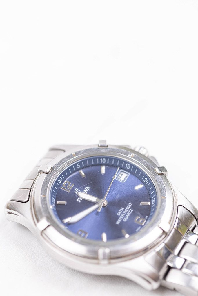 Festina Hand Watch isolated above white background with copy space