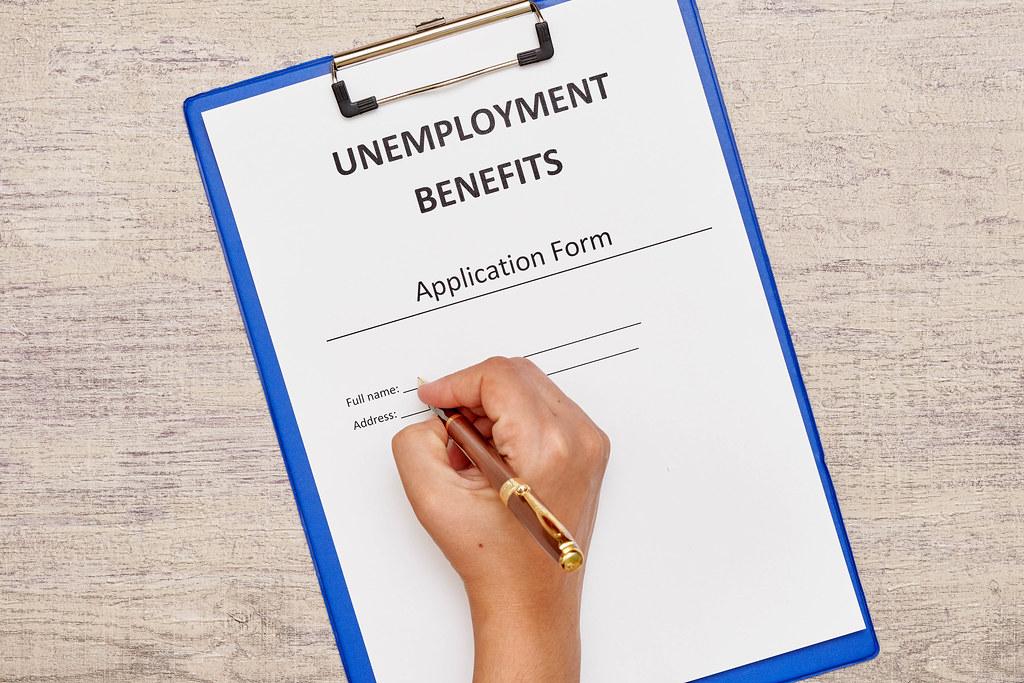 Filling Unemployment benefits application form