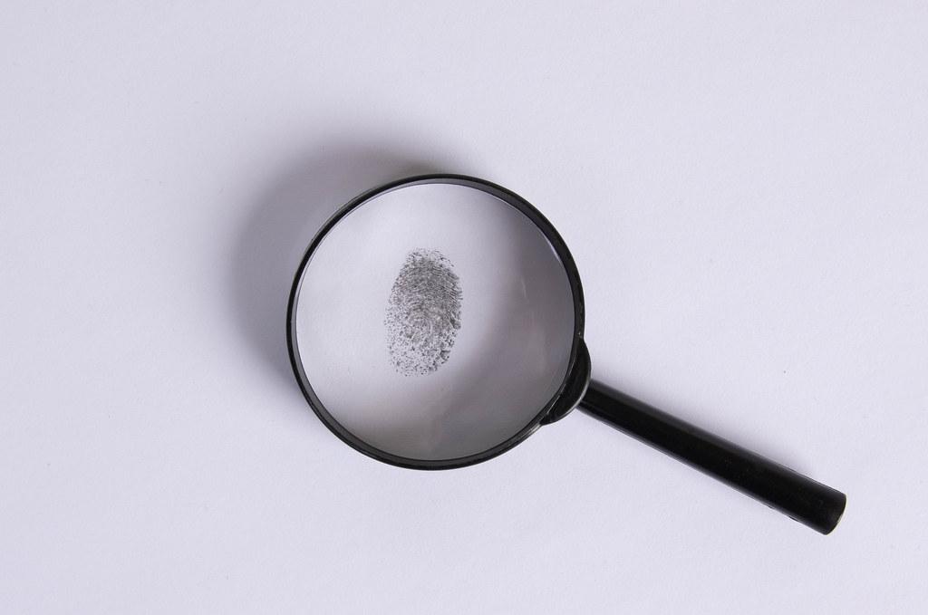 Fingerprint under a magnifier