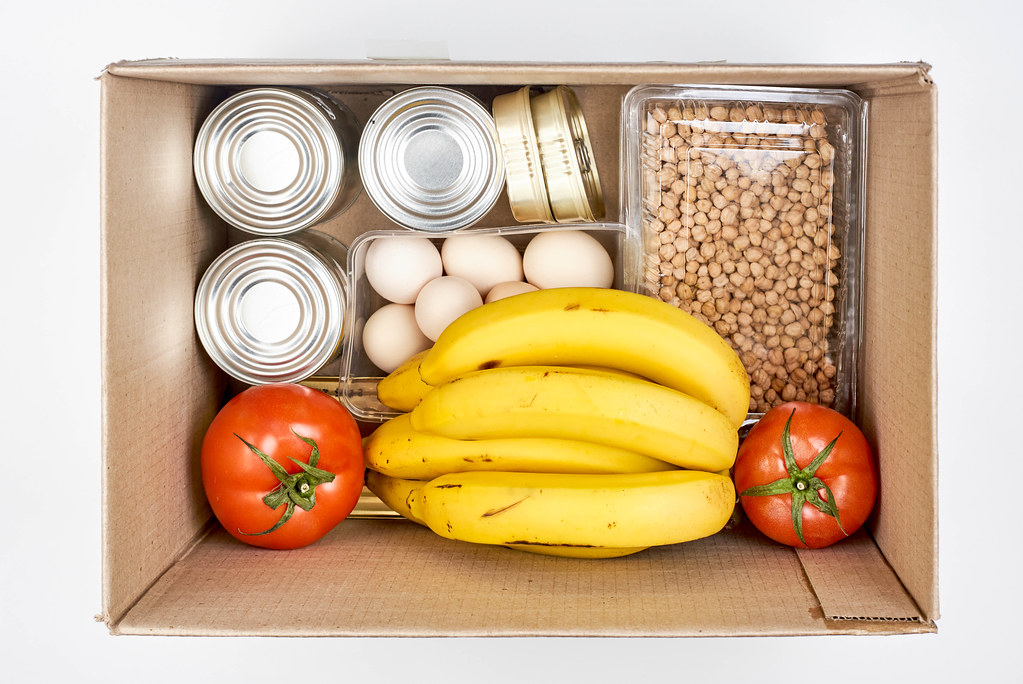 Food donation box from above