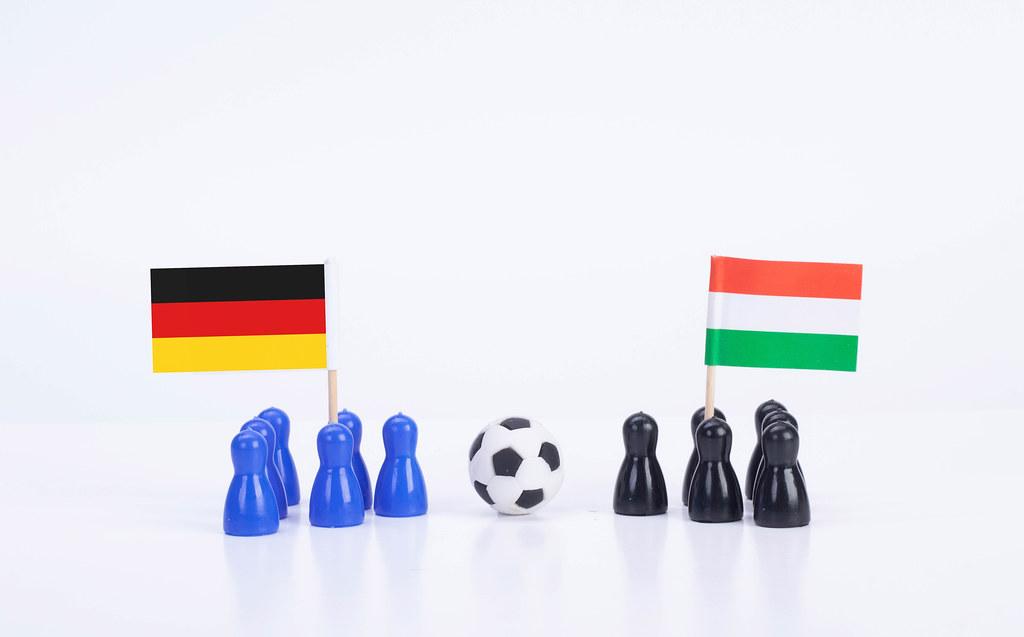 Football match Germany Vs. Hungary