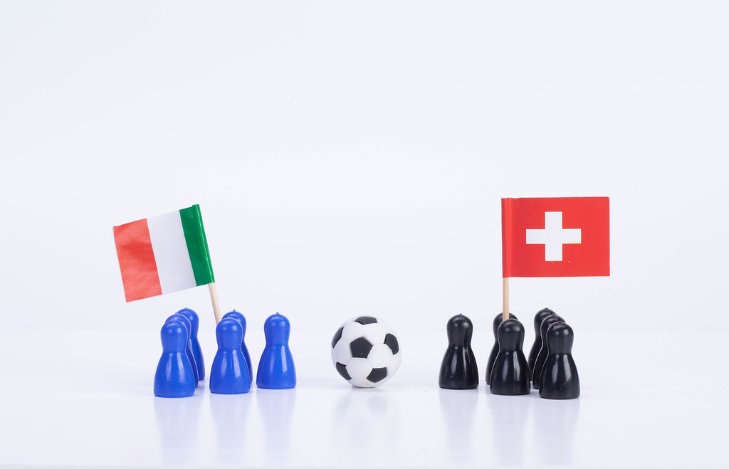 Football match Italy Vs. Switzerland