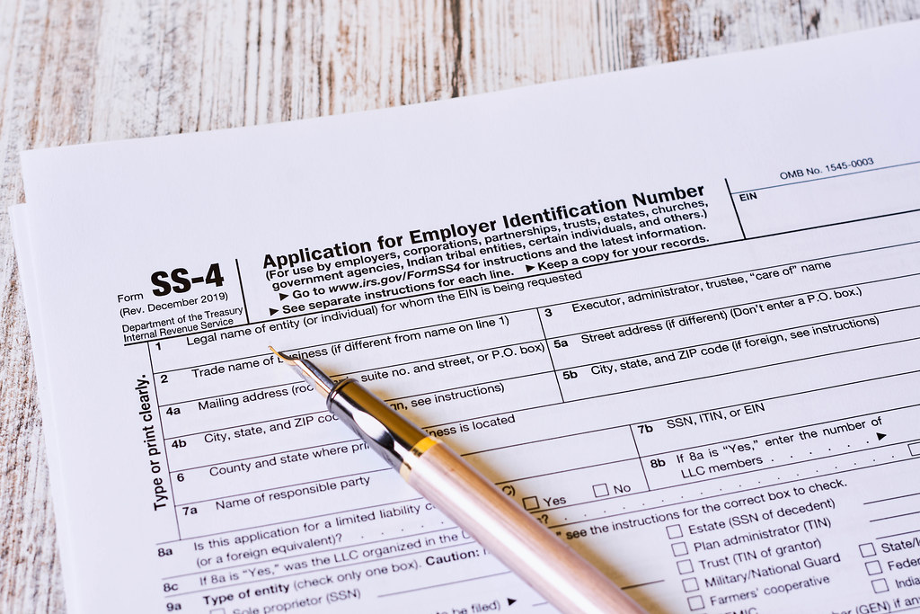 Form SS-4, Application for Employer Identification Number