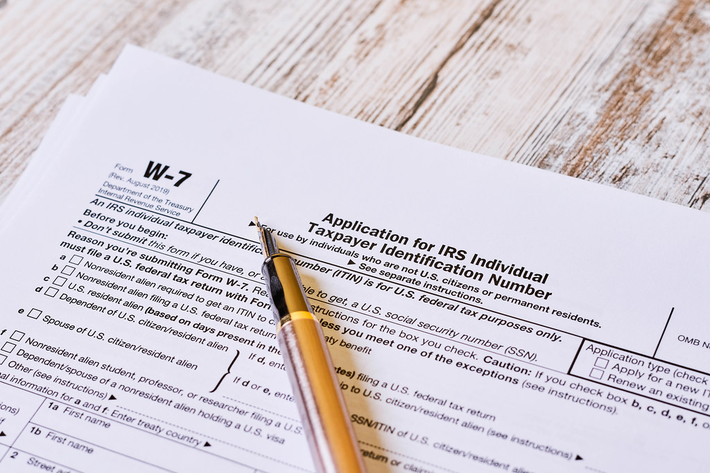 Form W-7 Application for IRS Individual taxpayer identification number