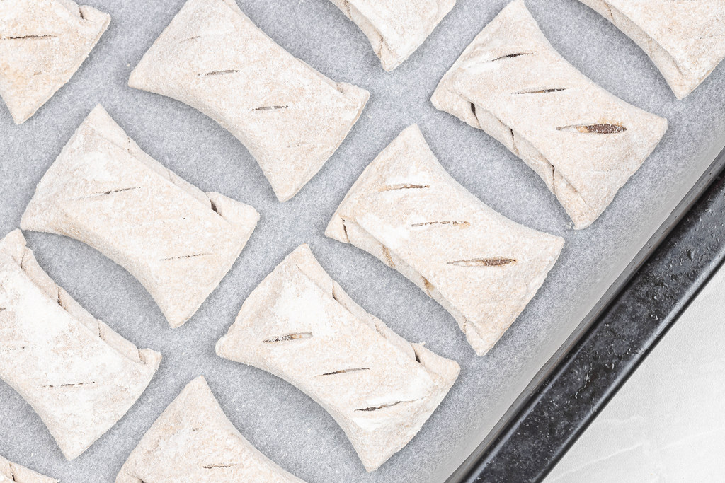 Frozen Puff Pastry Cookies ready for baking
