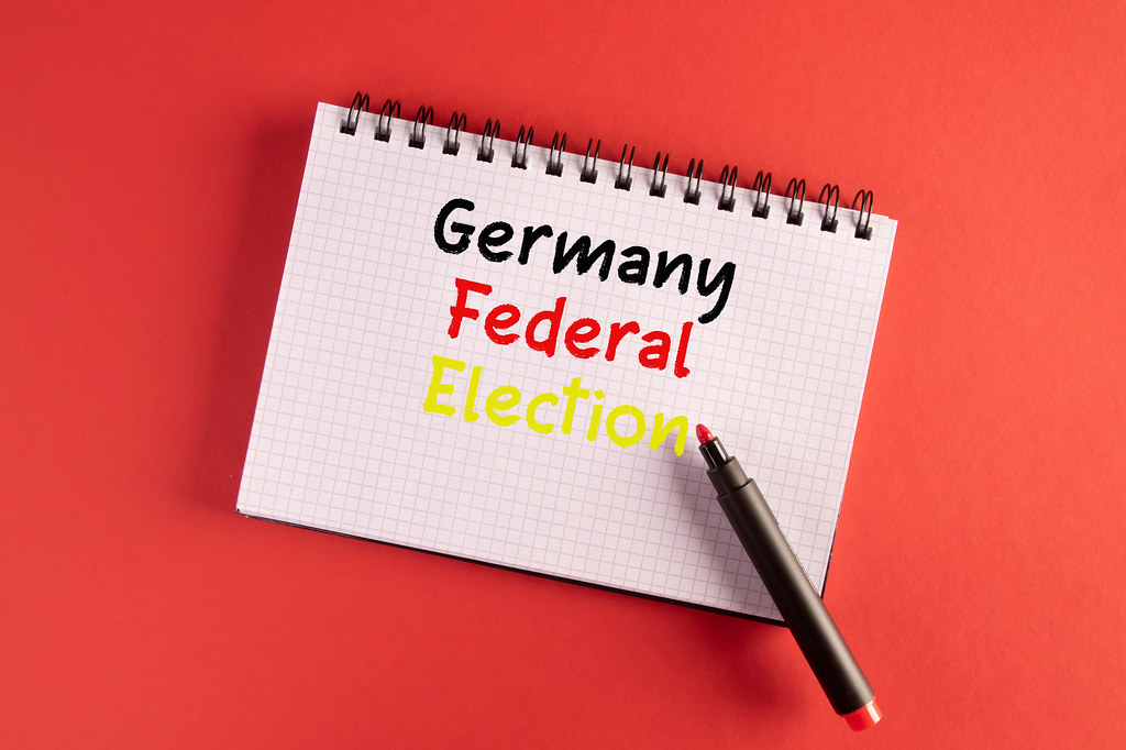Germany Fedeal Election written in notebook