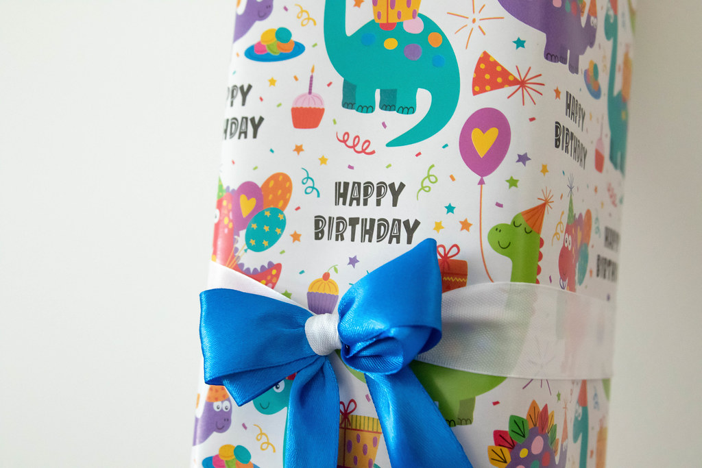 Gift box with Happy Birtday text