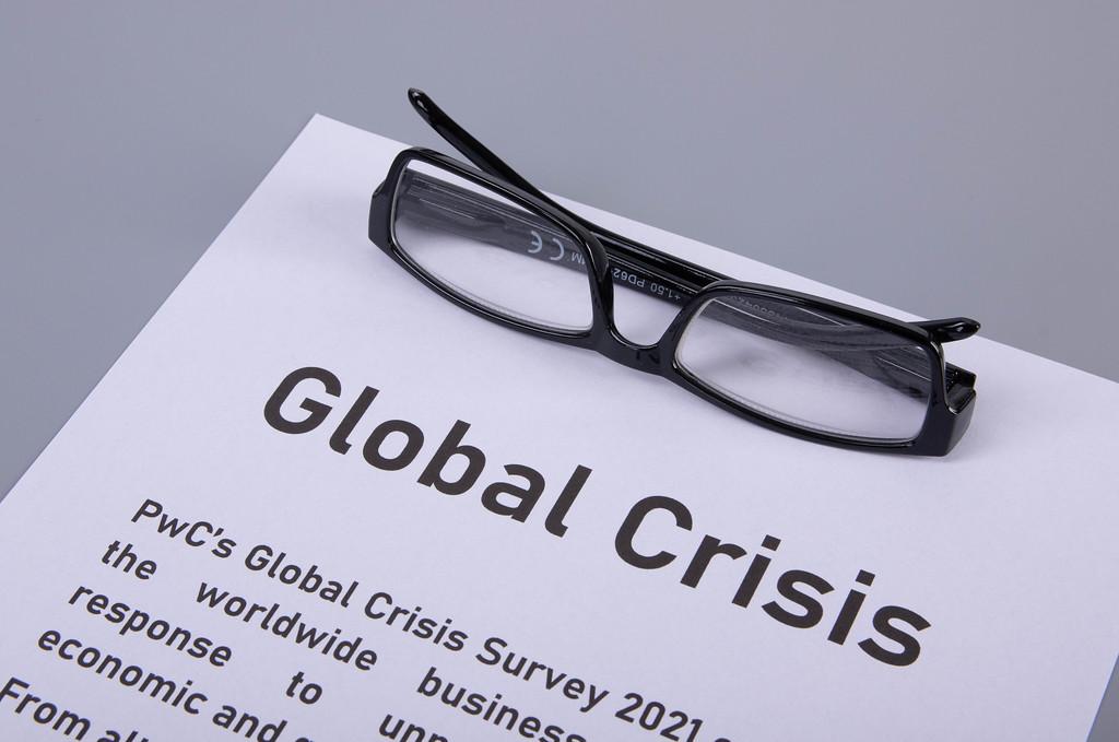 Global crisis article headline