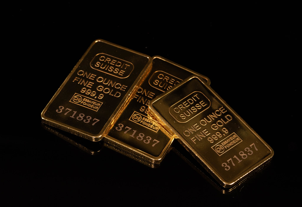 Gold bars and Financial concept