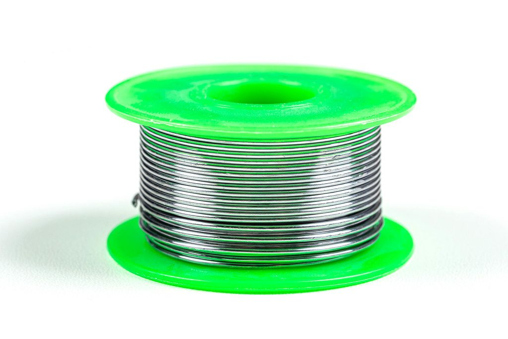 Green tin coil for soldering iron