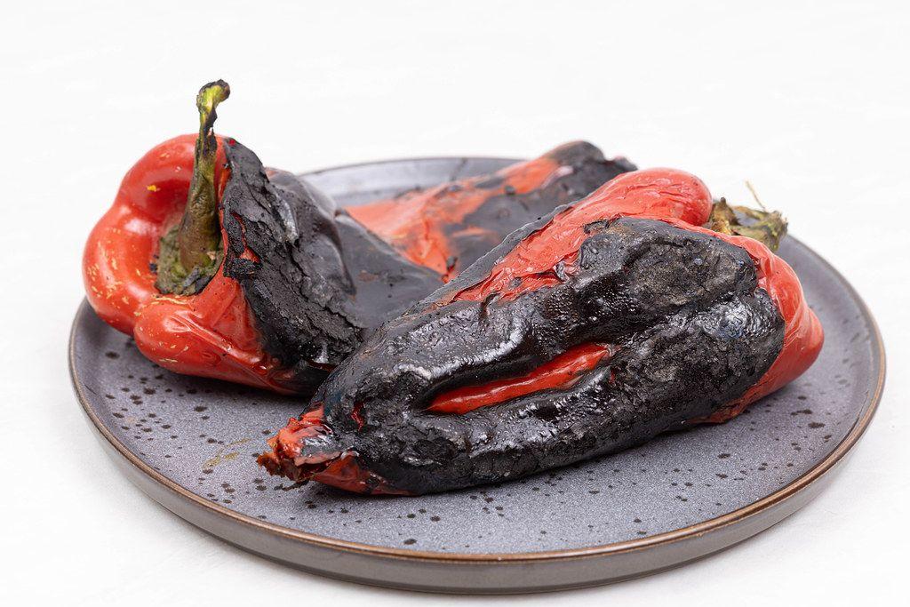 Grilled Red Paprika prepared for salad